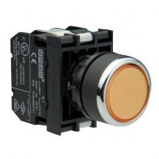 B102FS Кнопка с фиксацией желтая (1НО+1НЗ)
