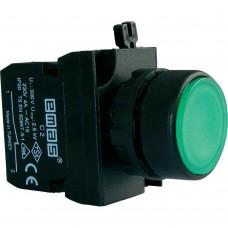 B102FY Кнопка с фиксацией зеленая (1НО+1НЗ)