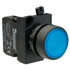 B102FМ Кнопка с фиксацией синяя (1НО+1НЗ)