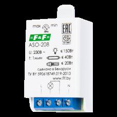 ASO-208  регулируемый акустический порог, фотодатчик, для всех типов ламп, монтаж на плоскость 230В