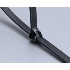 Стяжка кабельная КСС 3х100 (ч) (100шт) Fortisflex