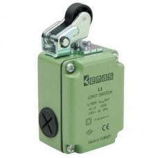 EMAS, L1K13MIP11, Выключатель концевой быстрого переключения угловой 1-но направленный со стальной к