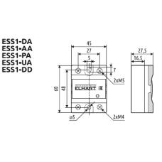 ESS1-DA-060 Однофазное твердотельное реле