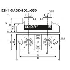 ESH1-DA-300 Однофазное силовое твердотельное реле