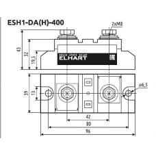 ESH1-DA-400 Однофазное силовое твердотельное реле