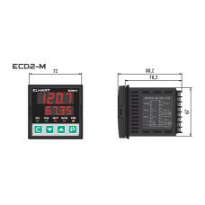 ECD2-M-CR-RS — ПИД-регулятор 2-х канальный