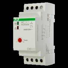 CKF-11  NEW! регулировка задержки отключения, контроль чередования фаз, 2 модуля, монтаж на DIN-