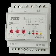 CKF-345  регулируемые ассиметрия,  контроль чередования фаз, 4 модуля, монтаж на DIN-рейке 3х500