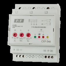 CKF-346  регулируемые ассиметрия,  контроль чередования фаз, 4 модуля, монтаж на DIN-рейке 3х680В