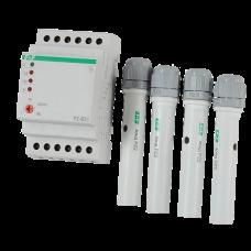 PZ-831  трехуровневый, независимый контроль по каждому уровню, 3 модуля, монтаж на DIN-рейке 230В 3х
