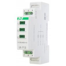 LK-713 сигнализация наличия трех фаз,  1 модуль, монтаж на DIN-рейке 3х400/230+N   20