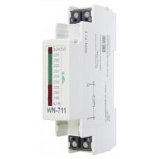 WN-711 однофазный, светодиодная шкала, 1 модуль, монтаж на DIN-рейке 230В   20