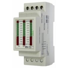 WN-723 трехфазный, светодиодная шкала, 2 модуля, монтаж на DIN-рейке 3х400/230+N   20