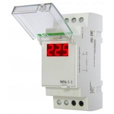 WN-1-1     однофазный, 100-300В, цифровая индикация, 2 модуля, монтаж на DIN-рейке 230В   20