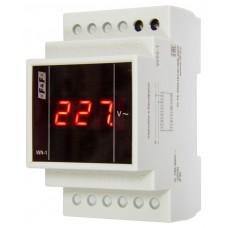 WN-1  однофазный, 20-300В, цифровая индикация, 2 модуля, монтаж на DIN-рейке 230В   20