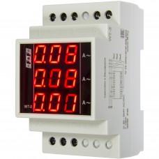 WT- 3-300  трехфазный, для работы с трансформаторами тока 100/5, 150/5,200/5, 300/5, 3 модуля, монта