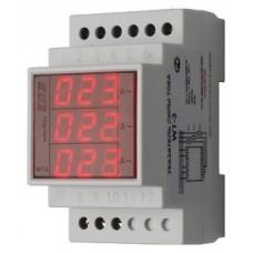 WT- 3-750  трехфазный, для работы с трансформаторами тока 400/5, 500/5,600/5, 750/5, 3 модуля, монта
