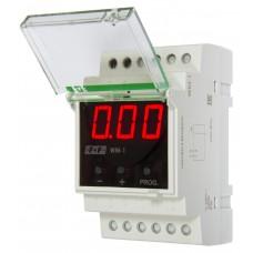 WM-1         однофазный,отбражение мощности, тока, напряжения, цифровая индикация, 3 модуля, монтаж