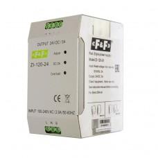 ZI-120-24  NEW! импульсный, мощность 120Вт, Uвых. 24В DC, ,   монтаж на плоскость 90-264 В AC 5А  20