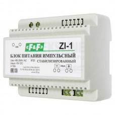 ZI-1     импульсный, мощность 50Вт, Uвых. 5 В DC, 6 модулей, монтаж на DIN-рейке 85-264 В AC 10А  20