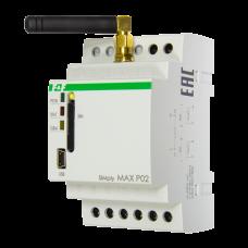 SIMply MAX Р02 встроенный GSM-коммуникатор, 2 входа и 2 выхода,mini-USB. Реле для дистанционного отк