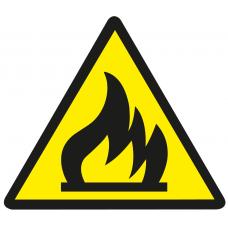 "Знак эл. безопасности ""Пожароопасно легко воспламеняется"" 150х150х150"