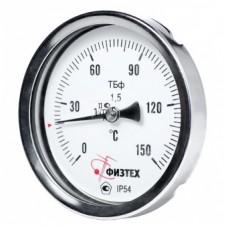 Термометр биметаллический ТБф-120 кл.т.1,5 d.100 IP54 0…160C° L100мм. ГЛ G1/2 ОШ